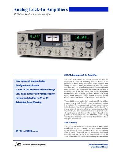 SR124 — Analog lock-in amplifier
