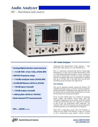 SR1Audio Analyzer