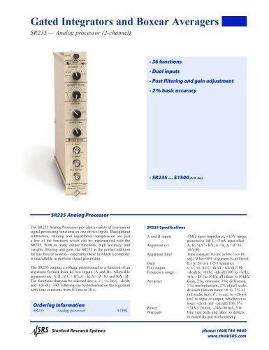 SR235 Analog Processor