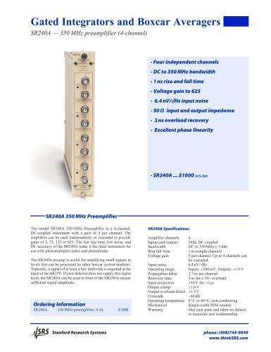 SR240A350 MHz Preamplifier