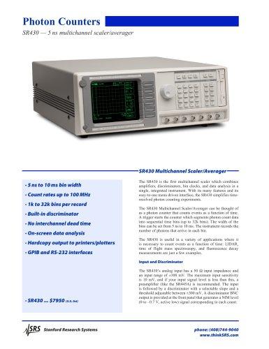 SR430Multichannel Scaler / Averager