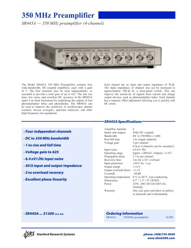 SR445A 350 MHz Preamplifier