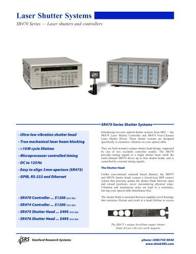 SR470 Laser Shutter Controller