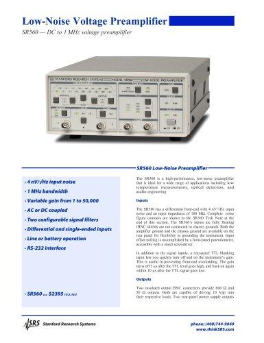 SR560 Low-Noise Voltage Preamplifier