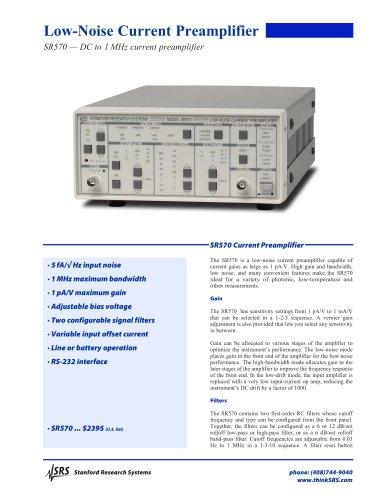SR570 Low-Noise Current Amplifier