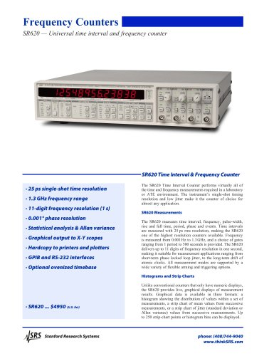 SR620 — Universal time interval and frequency counter