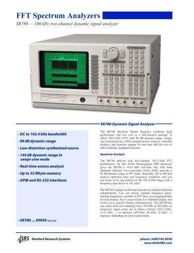 SR780 Dynamic Signal Analyzer