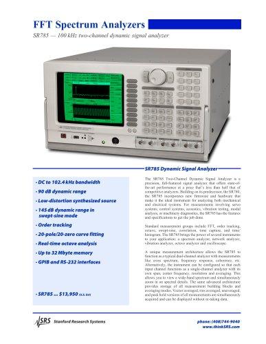 SR785 Dynamic Signal Analyzer