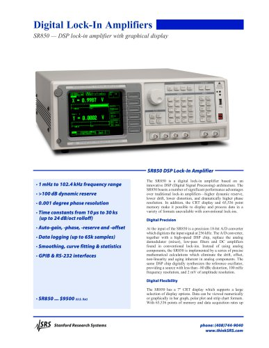SR850 — DSP lock-in amplifier with graphical display