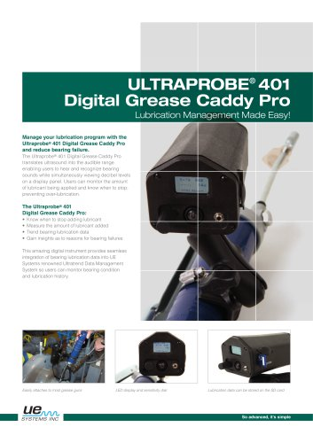 Ultraprobe 401 Digital Grease Caddy Pro
