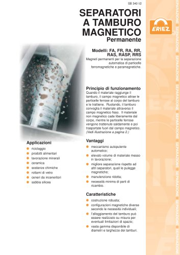 Separatori A Tamburo Magnetico Permanente