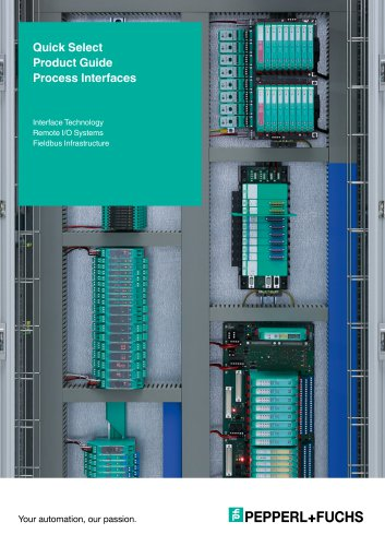 Interface Technology Remote I/O Systems Fieldbus Infrastructure