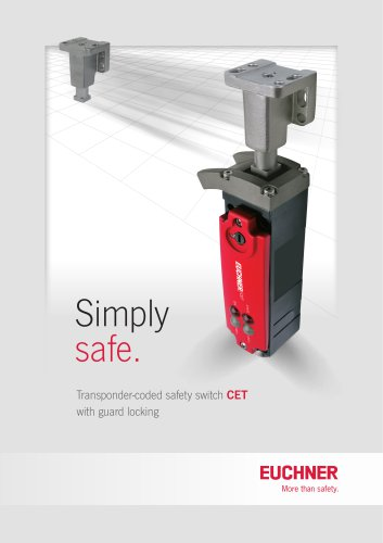Transponder-coded safety switch CET with guard locking