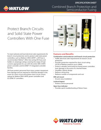 Combined Branch Protection and Semiconductor Fusing