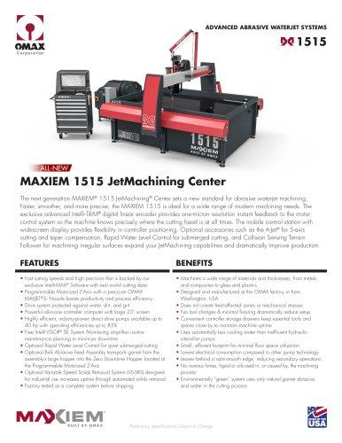 MAXIEM 1515 JetMachining Center
