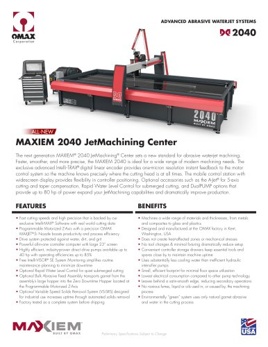 MAXIEM 2040 JetMachining Center