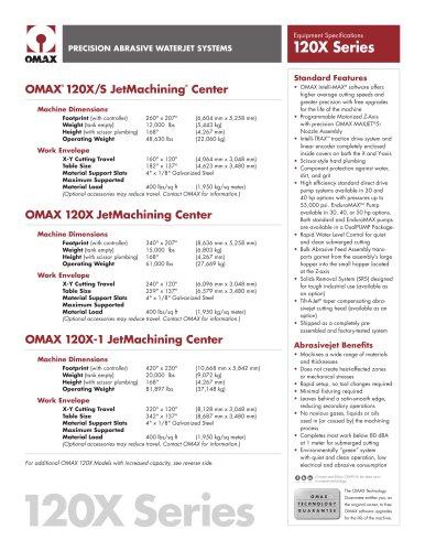 OMAX® 120X JetMachining® Center Series
