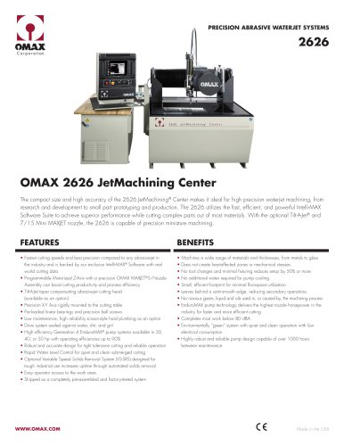 OMAX® 2626 JetMachining® Center