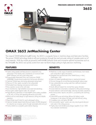 OMAX® 2652 JetMachining® Center