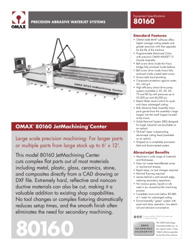 OMAX® 80160 JetMachining® Center