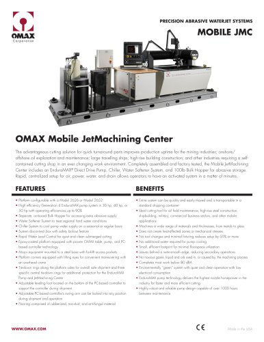 OMAX Mobile JetMachining® Center