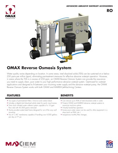 OMAX Reserve Osmosis System