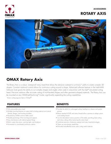 OMAX Rotary Axis