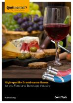 High-quality Brand-name Hoses for the Food and Beverage Industry