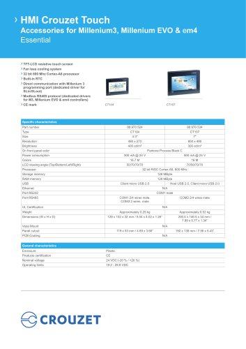 HMI Crouzet Touch Essential