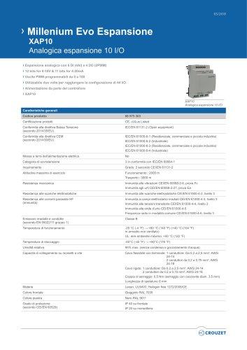 Millenium Evo Espansione XAP10 Analogica espansione 10 I/O
