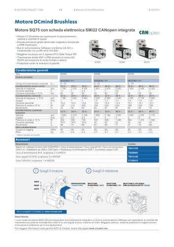 Motore SQ75 con scheda elettronica SMi22 CANopen integrata