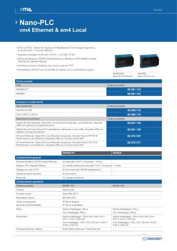 Nano-PLC em4 Ethernet & em4 Local ››