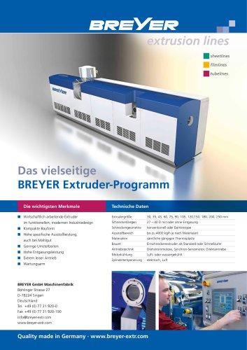 BREYER extruder programme