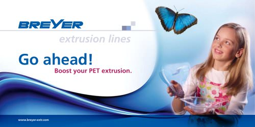 PET sheet line for thermoforming products