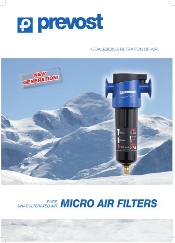 COALESCING FILTRATION OF AIR