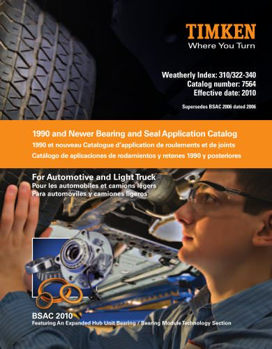 Automotive Aftermarket Bearing and Seal Application