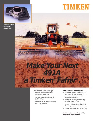 Timken® Fafnir® 491A disk harrow unit