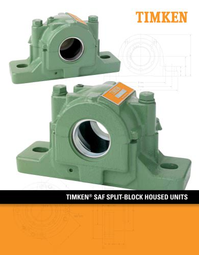 Timken SAF Housed Unit Catalog