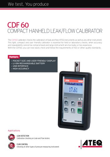 Leak/Flow calibrator CDF 60