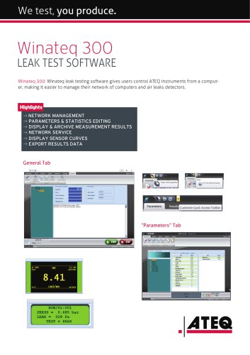 Leak test software |Winateq 300