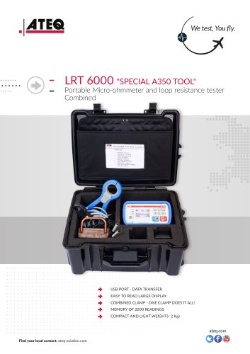 LRT 6000 PORTABLE MICRO-OHMMETER AND LOOP RESISTANCE TESTER