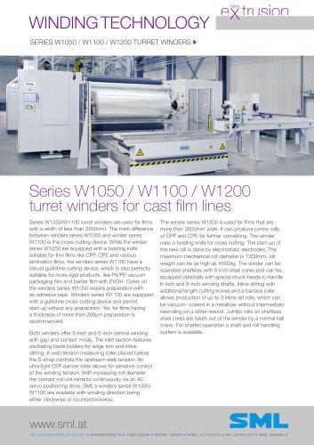 winder W1050 / W1100 / W1200 turret winders