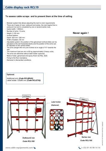 Cable display rack RCL19