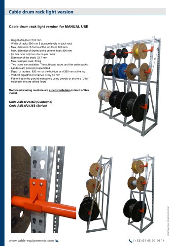 Cable drum rack light version