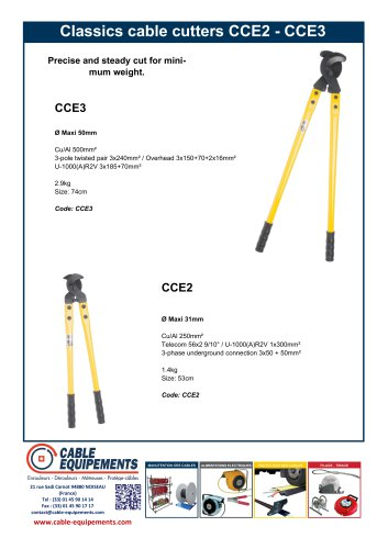 Classics cable cutters CCE2 -CCE3