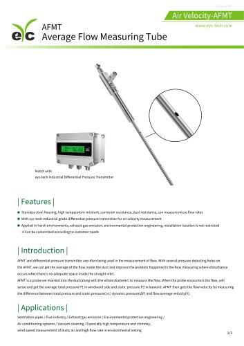 eYc AFMT Average Flow Measuring Tube ( Pitot tube )