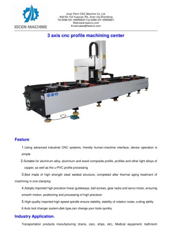 3 axis CNC profile machining center for curtain wall and windows