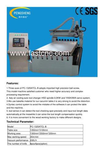 Ball screw ATC CNC Router PC-1325ATCL-B
