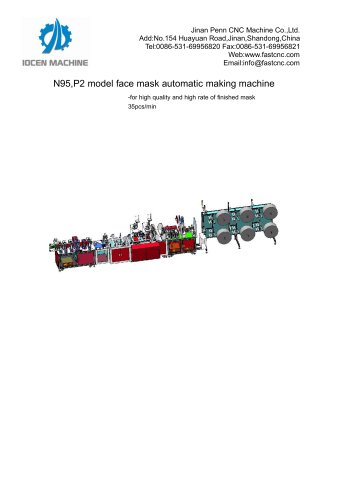 N95,P2 model face mask automatic making machine
