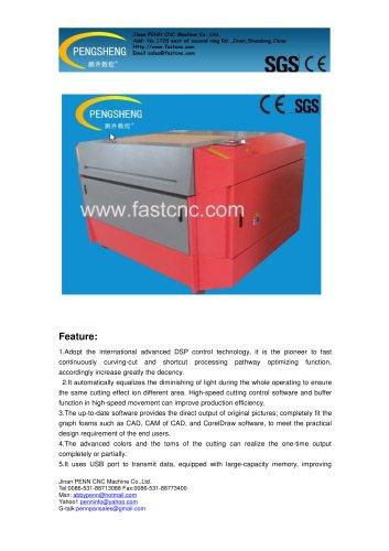 PENN CO2 laser engraving machine PC-6090L for acrylic